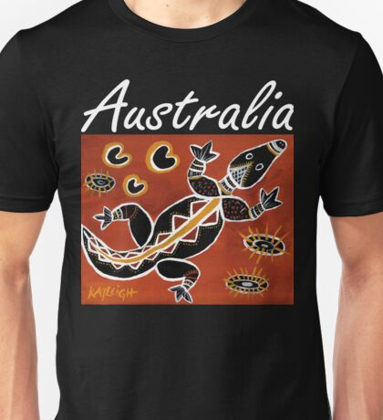 Tribal Crocodile Australia Unisex T-Shirt