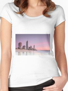 Sunrise in Paradise - Gold Coast Qld Australia Women's Fitted Scoop T-Shirt