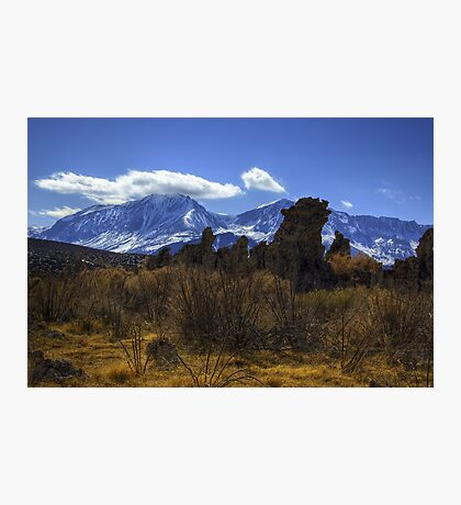 Tufa Towers and the Sierras Photographic Print