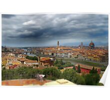 florence in hdr from piazza michalangelo Poster