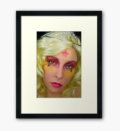 Superhero Princess Framed Print