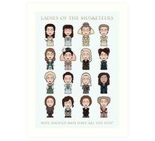 Ladies of The Musketeers (print/card) Art Print