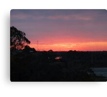 Coloured Sunset Canvas Print