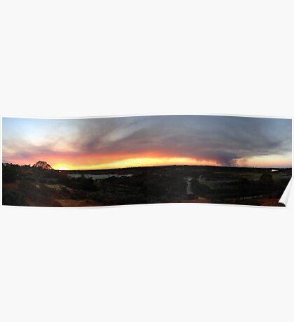 Sunset & Smoke Poster