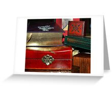Collections - boxes and books Greeting Card