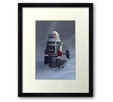 Retro Toy Robot Number 7 Framed Print