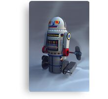Retro Toy Robot Number 7 Canvas Print
