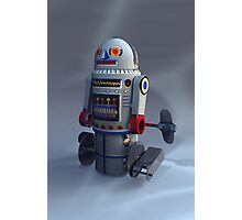 Retro Toy Robot Number 7 Photographic Print