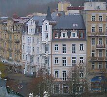 Czech city scene by spottedmagpie