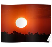 Fiery Sun Poster