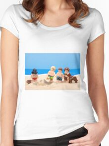Vader's Sandcastle  Women's Fitted Scoop T-Shirt