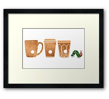 The Very Awake Caterpillar Framed Print