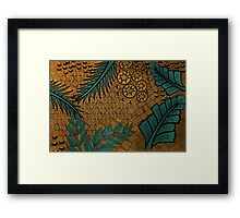 Zentangle Gold and Green Framed Print