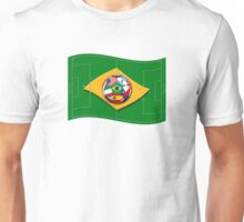 football field looks like Brazil flag with ball Unisex T-Shirt