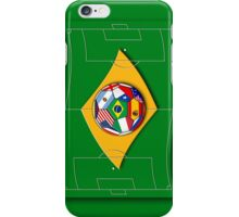football field looks like Brazil flag with ball iPhone Case/Skin