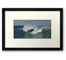 Riding it in Framed Print