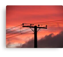 Powered Sillouette Canvas Print