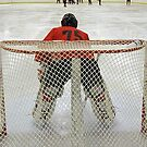 Study of a Goalie - Long View Down the Ice by AuntieJ