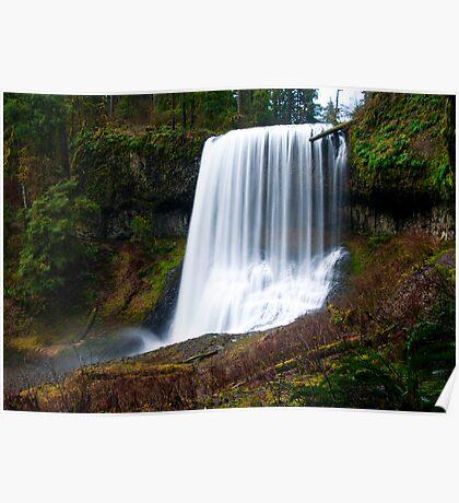 Middle North Falls, Silver Creek Oregon Poster
