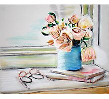 Flowers, Books and Spectacles Photographic Print