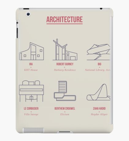 Architecture Line Design iPad Case/Skin