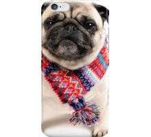 I AM PUG..... in scarf... iPhone Case/Skin