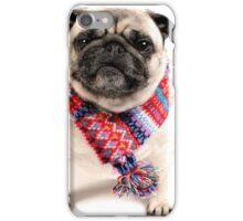 I AM PUG..... in scarf... iPhone Case/Skin