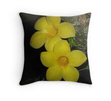 Yellow Flower Resting Throw Pillow