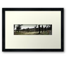 Marysville - Riverside Cottages Framed Print