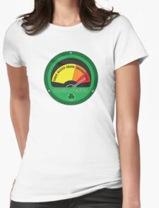 Drunk o meter Womens Fitted T-Shirt