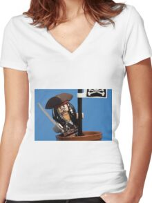 Lego Captain Jack Sparrow Women's Fitted V-Neck T-Shirt