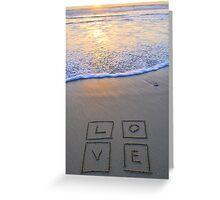 L_O_V_E Greeting Card