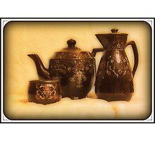 Old glassware Photographic Print