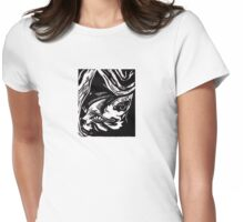 Portrait of Cat Womens Fitted T-Shirt