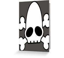 Oddworld Skull Cross Bones Greeting Card