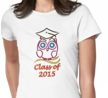 Graduation owl Womens Fitted T-Shirt