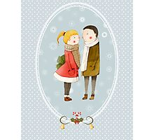 Lovers In The Snow Photographic Print