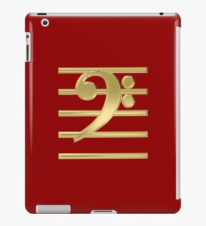 Bass clef iPad Case/Skin