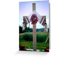 Way Station Cross Greeting Card