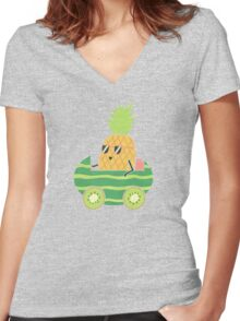 Summer Drive Women's Fitted V-Neck T-Shirt
