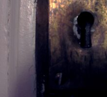Keyhole in 1918 Door by greycat