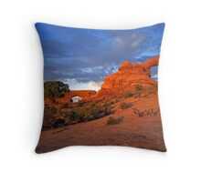 North Window & Turret Arches Throw Pillow