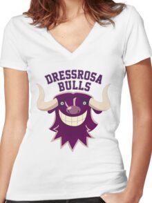 Dressrosa Bulls Women's Fitted V-Neck T-Shirt