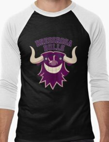 Dressrosa Bulls Men's Baseball ¾ T-Shirt
