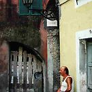 Afternoon in the piazza, Airole, Liguria, northern Italy by BronReid