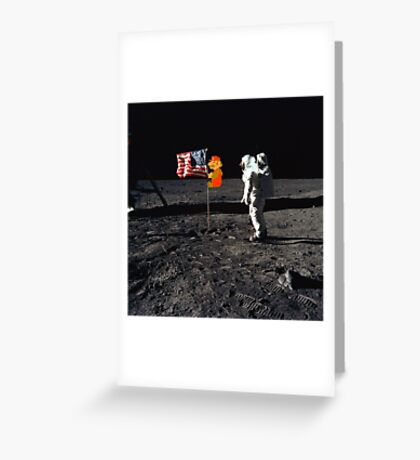 Super Mario On the Moon Greeting Card