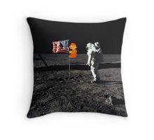 Super Mario On the Moon Throw Pillow