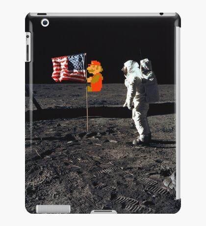 Super Mario On the Moon iPad Case/Skin