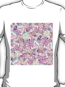 Psychedelic bright abstract girly floral pattern T-Shirt