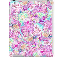 Psychedelic bright abstract girly floral pattern iPad Case/Skin